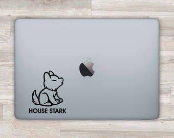 Game Of Thrones MacBook Decal MacBook Sticker House Stark Dire Wolf Laptop Decal Laptop Sticker MacBook Retina MacBook Pro Air Snow m1155