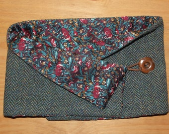Harris Tweed and  Liberty silk neckwarmer