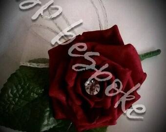 single rose button hole