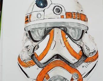 ON SALE** Stormtrooper / BB-8 mashup