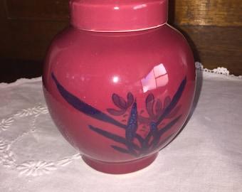 1980s Maroon Ginger jar
