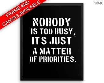 Priorities Prints  Priorities Canvas Wall Art Priorities Framed Print Priorities Wall Art Canvas Priorities lessons reminder