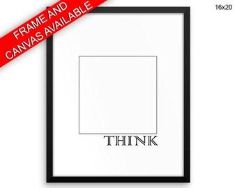 Think Outside The Box Canvas Art Think Outside The Box Printed Think Outside The Box Inspirational Art Think Outside The Box Inspirational