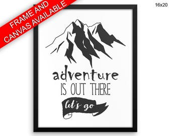 Adventure Is Out There Wall Art Framed Adventure Is Out There Canvas Print Adventure Is Out There Framed Wall Art Adventure Is Out There