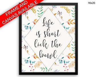 Life Is Short Canvas Art Life Is Short Printed Life Is Short Kitchen Art Life Is Short Kitchen Print Life Is Short Framed Art Life Is Short