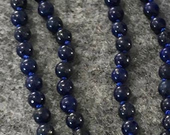 Lapis Lazuli mala with 108 semipresius gemstones