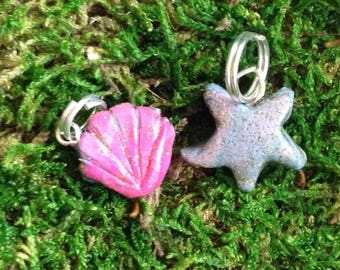 Seashell & Starfish Charm Set