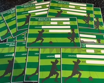 Football party invites (qty 20 per pack)