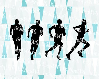 Runner silhouette SVG, Running man SVG, Runner SVG, Marathon Svg, Sport Svg, Instant download, Runner Clipart, Eps - Dxf - Png - Svg