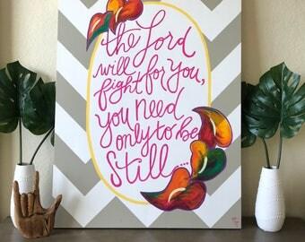 Exodus 14:14 Acryllic Painting