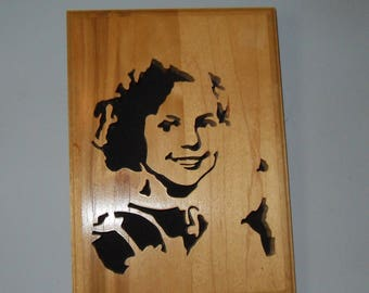 Shirley Temple Scrollsaw Silhouette