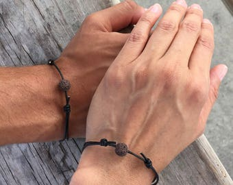 Couples Bracelet Couples Jewelry Matching Bracelet Leather Wrap Bracelet Him and Him Bracelet Him and Him Jewelry Gift for Husband Bracelet
