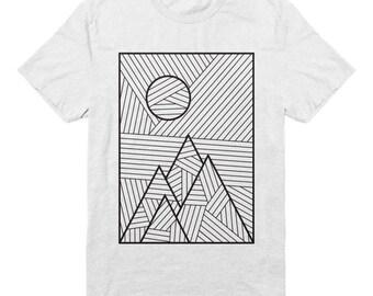 Lines Landscape Organic Cotton T-shirt