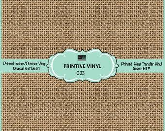 Burlap Pattern Printed Vinyl/Siser HTV/ Oracal/ Indoor Vinyl/ Outdoor Vinyl/ Heat Transfer Vinyl- 023