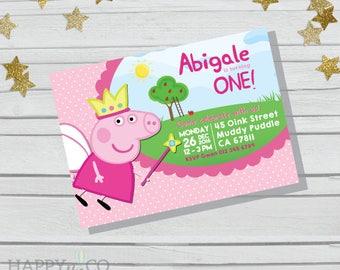 DIGITAL Peppa Pig Birthday Invitation / Peppa Pig Invitation Birthday / Peppa Birthday Invitation / Pig Birthday Invitation / Peppa Pig