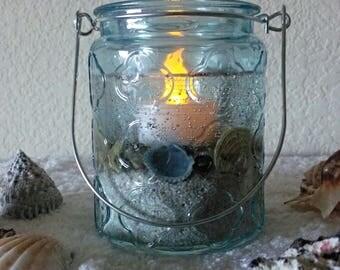 Sand Gel LED Seashell Candle