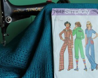Simplicity 7642 sewing pattern Jumpsuit juniors  sz 7, 8
