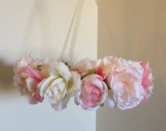 Floral Mobile | Baby Mobile | Baby Girl Mobile | Pale Pink Mobile