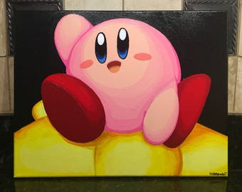 Kirby Acrylic Canvas Painting