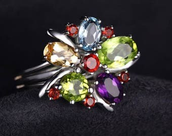 Flower Multicolor Ring 2017