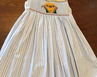 English smocked dress