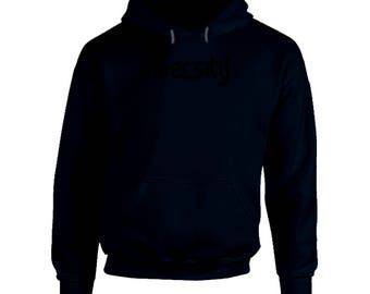 Inversity Hooded Pullover Navy- Black Logo