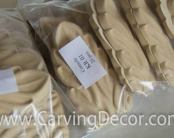 Mouldings from wood pulp for furniture