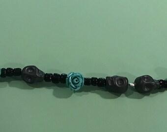 Skull and roses bracelet