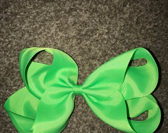 Neon hair bow 8 inch