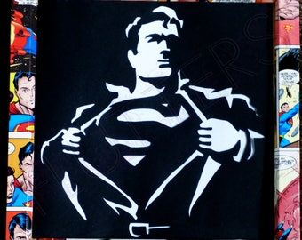 Box Framed Superman Papercut