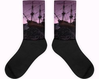 Epic Ship Storm Printed Socks by tooradsocks