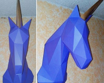 Unicorn DIY Papercraft.