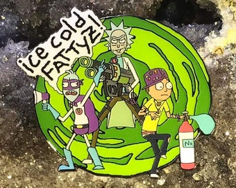 Rick and Morty Enamel Hat Pin Festival Pin Grateful Dead Pin Bassnectar Pin