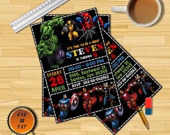Superhero,Superhero Invitation,Superhero Avenger Birthday Invitation,Avenger Invitation,Boy Invitation,Birthday Invitation,Invitation,Invite