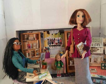 Ali's dolls at the public library toy playroom design