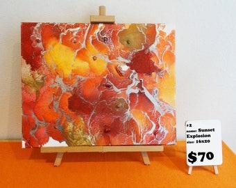 Crayon Melt Sunset Explosion