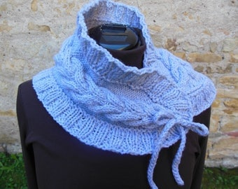 Snood scarf grey colours