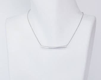 Minimalist tube m necklace