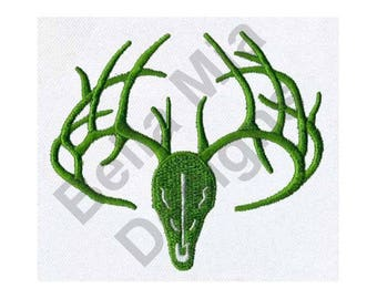 Deer Skull And Antlers - Machine Embroidery Design