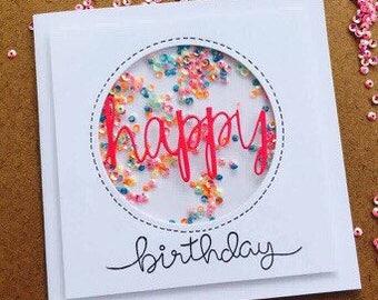 Birthday card - shaker fun