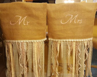 Rustic Mr. And Mrs. Chair covers