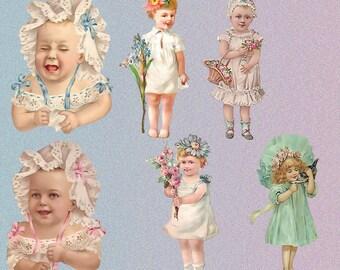 Vintage Scrap Children