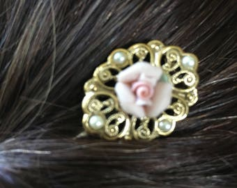 Vintage jewelry hair pins