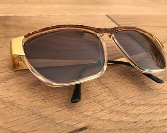Laura Biagiotti Gold Retro Sunglasses