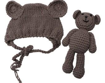 Teddy bear newborn outfit