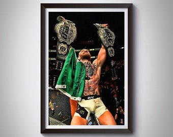 MMA Inspired Art Poster Print, Conor McGregor Poster