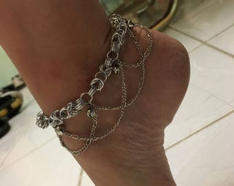 Jump Ring and Jingle Bell Anklet