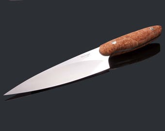 New Generation Chef Knife 152mm Blade with Maple Burl Handle