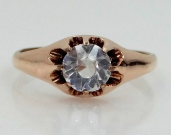 1920s Gold Filled Paste Stone Multi Prongs Ring