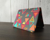 Card Wallet - Gray Geometric Triangle